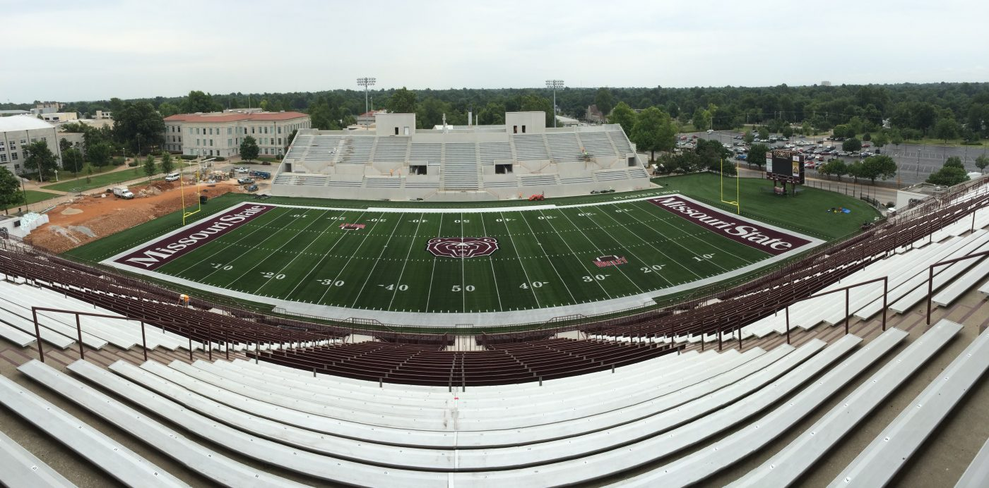 Missouri State University Football Field Nears Completion